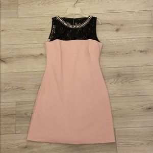 Jessica Simpson Pink Party Dress with Lace Chest